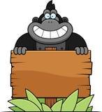 Cartoon Gorilla Sign Stock Images