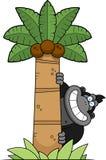 Cartoon Gorilla Tree. A cartoon illustration of a gorilla in a palm tree Royalty Free Stock Photos