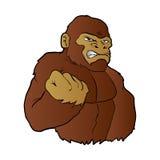 Cartoon gorilla. Vector illustration.angry ape Stock Photo