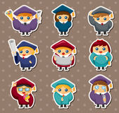 Cartoon Graduate students stickers Stock Photography