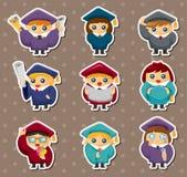Cartoon Graduate students stickers Stock Photography