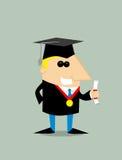 Cartoon graduating studen Stock Photography