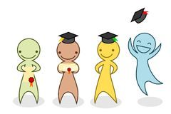 Cartoon graduation Stock Photos
