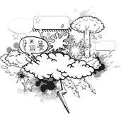 Cartoon graffiti Stock Image