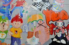 Cartoon Graffiti Stock Photos