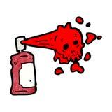 Cartoon graffiti skull spray can Stock Photo