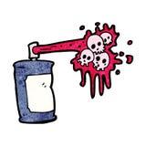 Cartoon graffiti skull spray can Royalty Free Stock Images
