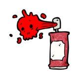 Cartoon graffiti skull spray can Stock Image
