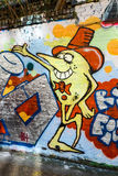 Cartoon graffiti wall art, London UK Royalty Free Stock Photos