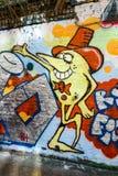 Cartoon graffiti wall art, London UK Royalty Free Stock Photos