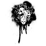 cartoon grafiti skulls pattern Stock Image