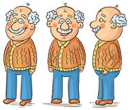 Cartoon grandfather Stock Photos