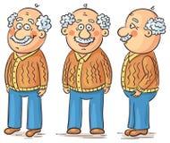 Cartoon grandfather Stock Photos