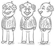 Cartoon grandfather Royalty Free Stock Photos