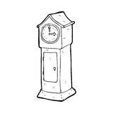 Cartoon grandfather clock Stock Images
