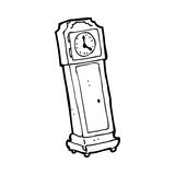 Cartoon grandfather clock Royalty Free Stock Photo