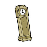 Cartoon grandfather clock Stock Image