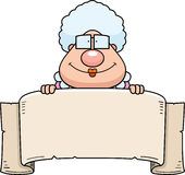 Cartoon Grandma Banner Royalty Free Stock Photos