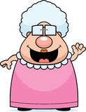 Cartoon Grandma Waving royalty free illustration