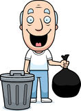 Cartoon Grandpa Trash Royalty Free Stock Photo