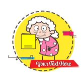 Cartoon Granny Presenting a Lullaby Book Vector Illustration Royalty Free Stock Photo