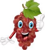 Cartoon grape giving thumbs up Stock Image