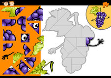 Cartoon grapes jigsaw puzzle game Stock Images
