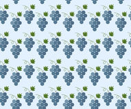 Cartoon grapes pattern Stock Images