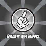 Happy friendship vector image. Cartoon graphic white human hands royalty free illustration