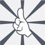 Happy friendship vector image. Cartoon graphic white human hands stock illustration
