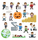 Cartoon Graphics of Appliances and Equipment Royalty Free Stock Photo