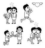 Cartoon Graphics for Valentine Stock Photography