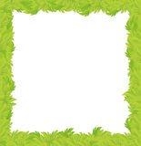 Cartoon grass frame for different usage with space for text. Beautiful and colorful illustration for the children - for different usage - for fairy tales royalty free illustration