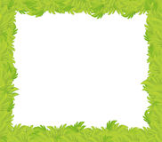 Cartoon grass frame for different usage with space for text. Beautiful and colorful illustration for the children - for different usage - for fairy tales stock illustration
