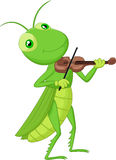 Cartoon Grasshopper with a Violin Royalty Free Stock Image