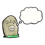 Cartoon gravestone Stock Photography