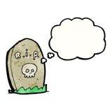 Cartoon gravestone Stock Photography