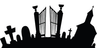 Cartoon Graveyard Royalty Free Stock Image