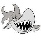 Cartoon Great White Shark Royalty Free Stock Photos