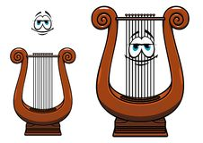 Cartoon greece musical lyre character Royalty Free Stock Photography