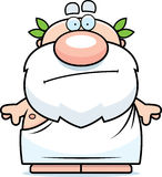 Cartoon Greek Philosopher Bored Royalty Free Stock Image