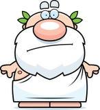 Cartoon Greek Philosopher Bored. A cartoon illustration of a Greek philosopher looking bored Royalty Free Stock Image