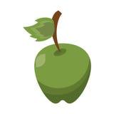 Cartoon green apple leave fruit icon. Vector illustration eps 10 Stock Photo