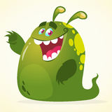 Cartoon green blob monster. Vector character for Halloween. Cartoon green blob monster. Vector character Stock Images