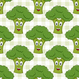 Cartoon Green Broccoli Seamless Pattern Royalty Free Stock Photos