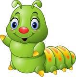 Cartoon green caterpillar Royalty Free Stock Image