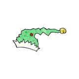 Cartoon green christmas hat Royalty Free Stock Photo
