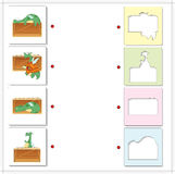 Cartoon green dragons. Educational game for kids Stock Photography