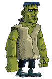 Cartoon green Frankenstein monster Stock Image