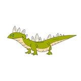Cartoon green lizard Royalty Free Stock Photography